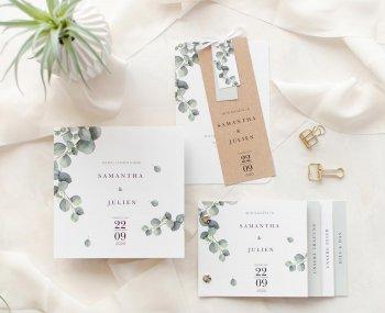 Einladungskarten Eukalyptus