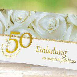 Einladungskarten Goldene Hochzeit
