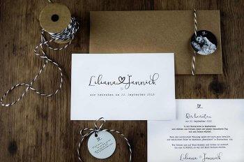 Einladungskarten Herz