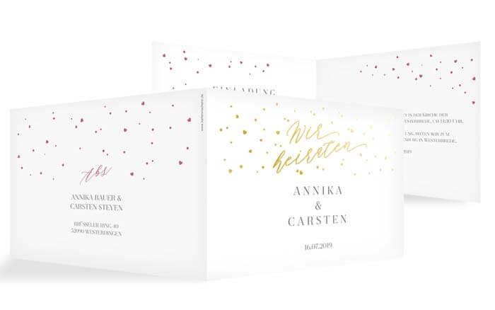 Einladungskarten Hochzeit Winter