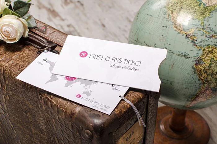 Flugticket Einladung