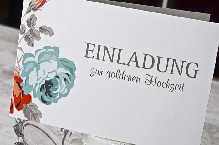 Goldene Hochzeit Karten Bildergalerie Mit Tollen Ideen