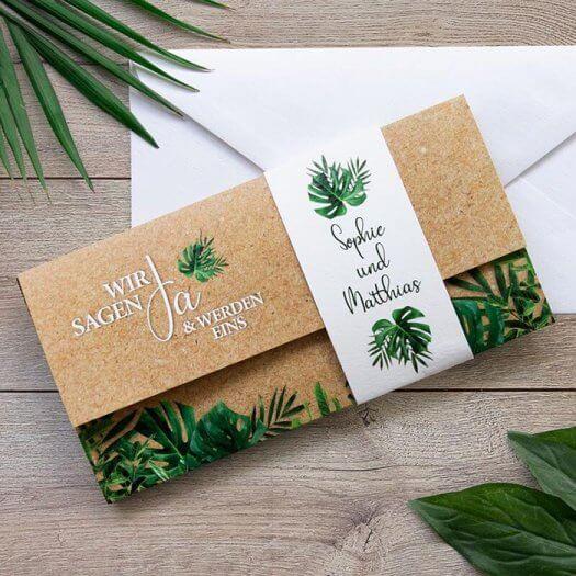 Greenery Hochzeitseinladung
