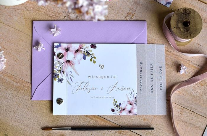 Hochzeitseinladung Booklet