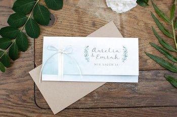 Hochzeitseinladung mit Eukalyptus