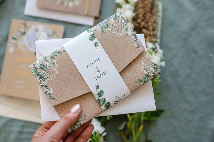 Hochzeitseinladung Grün