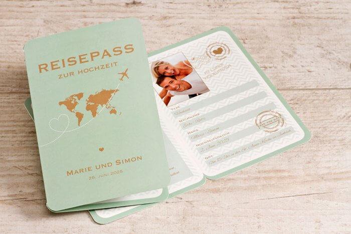 Hochzeitseinladung Passport