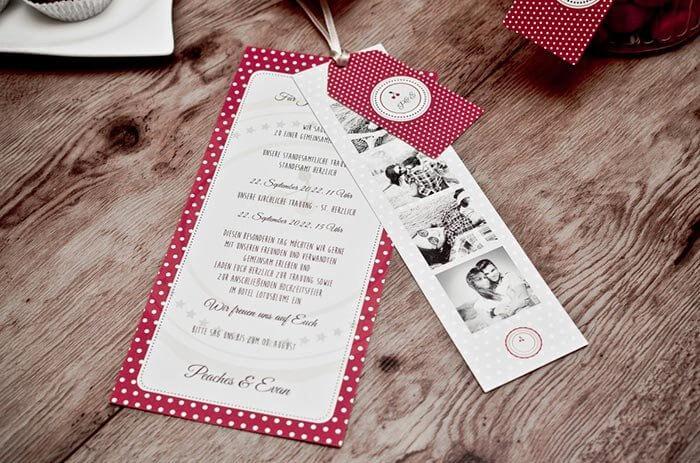 Hochzeitseinladung Rockabilly