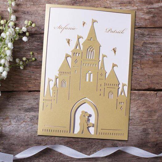 Hochzeitseinladung Schloss
