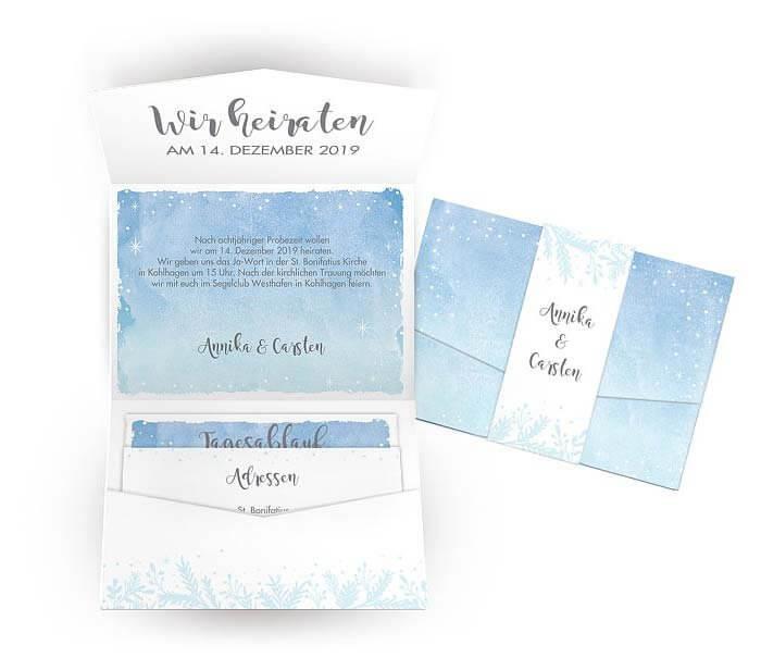Hochzeitseinladung Winter