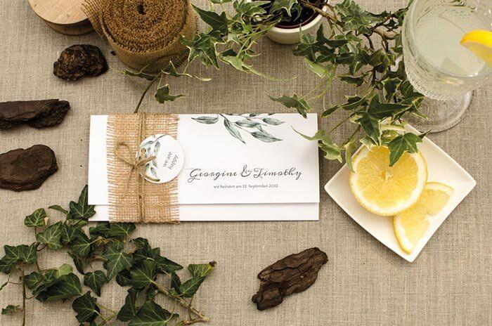 Hochzeitseinladung natur