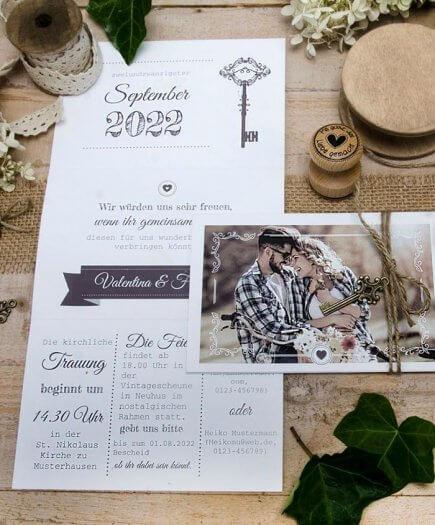 Hochzeitseinladung rustikal