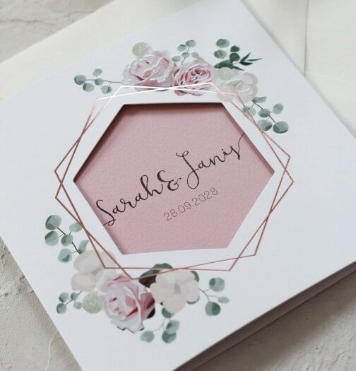 Hochzeitseinladungen Kupfer