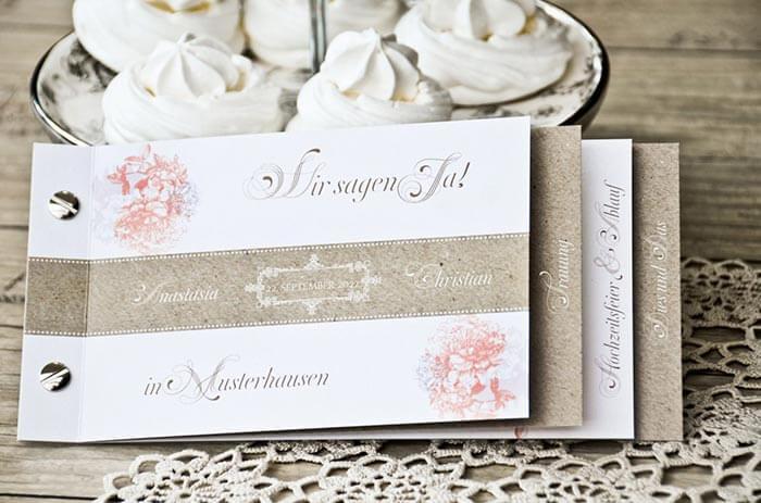 Hochzeitseinladungen Vintage Style
