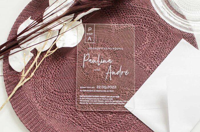 Hochzeitseinladungen elegant