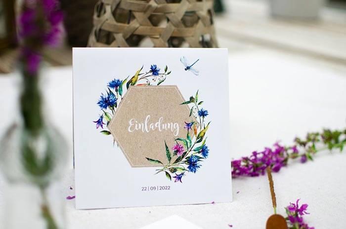Hochzeitseinladungen floral