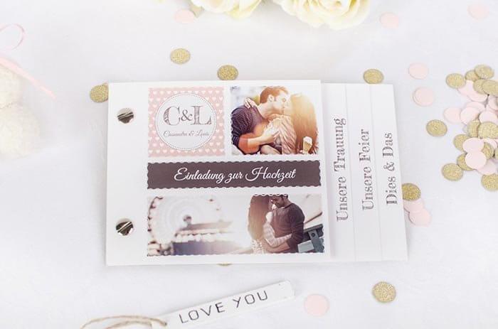 Hochzeitseinladungen mit Foto