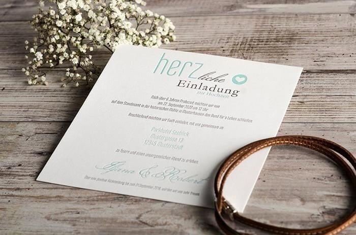 Hochzeitseinladungen schlicht