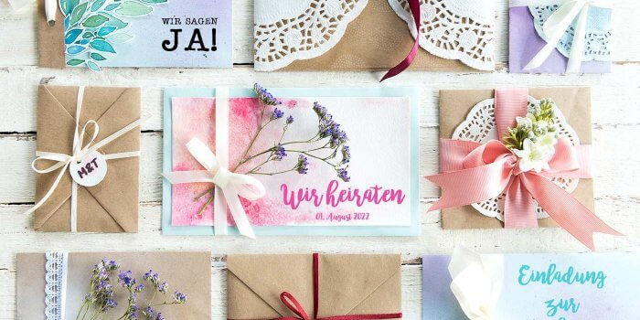Hochzeitseinladungen Selber Basteln 13 Diy Ideen Beispiele