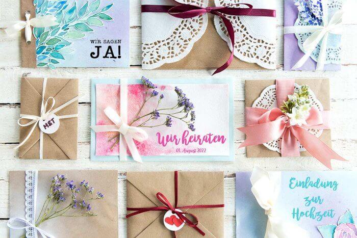 Hochzeitseinladungen selber basteln 13 diy ideen beispiele - Hochzeitseinladungen selber basteln ...