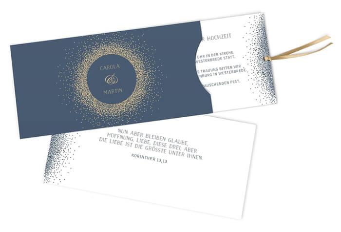 Hochzeitseinladungskarten selbst gestalten