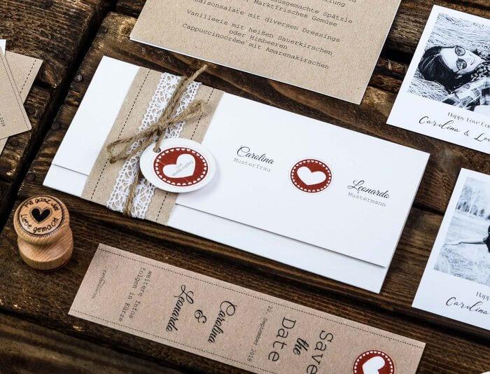 Ausgefallene Hochzeitseinladungen Basteln