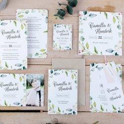 Hochzeitskarten mit Eukalyptus