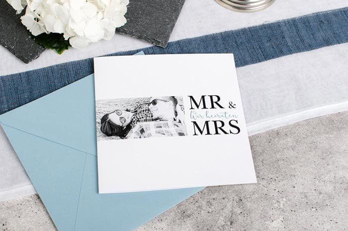 Klappkarte Hochzeit