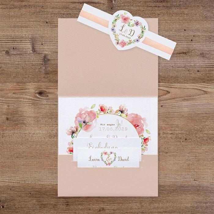 Pocketfold Hochzeitseinladung