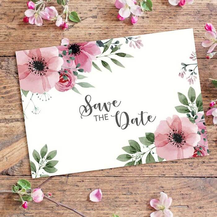 Save the Date Boho