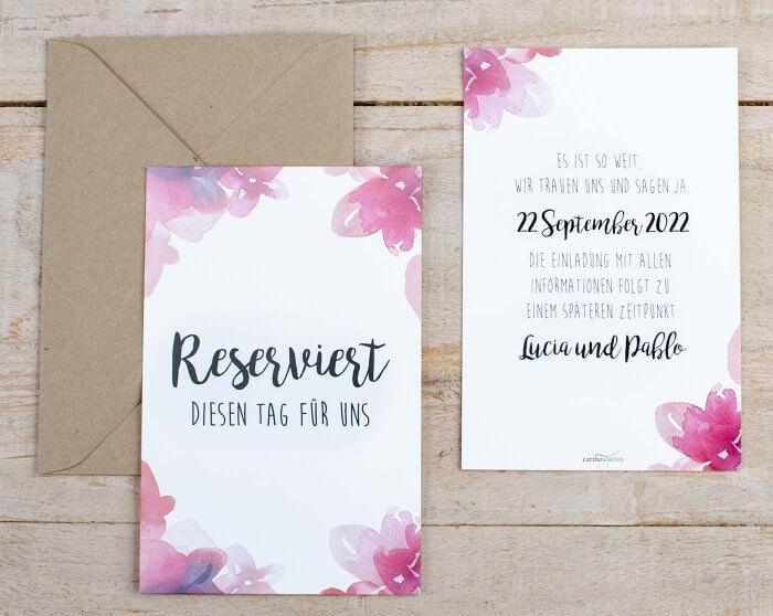 Karte Hochzeit.Save The Date Karten Zur Hochzeit Tipps Beispiele Inspirationen