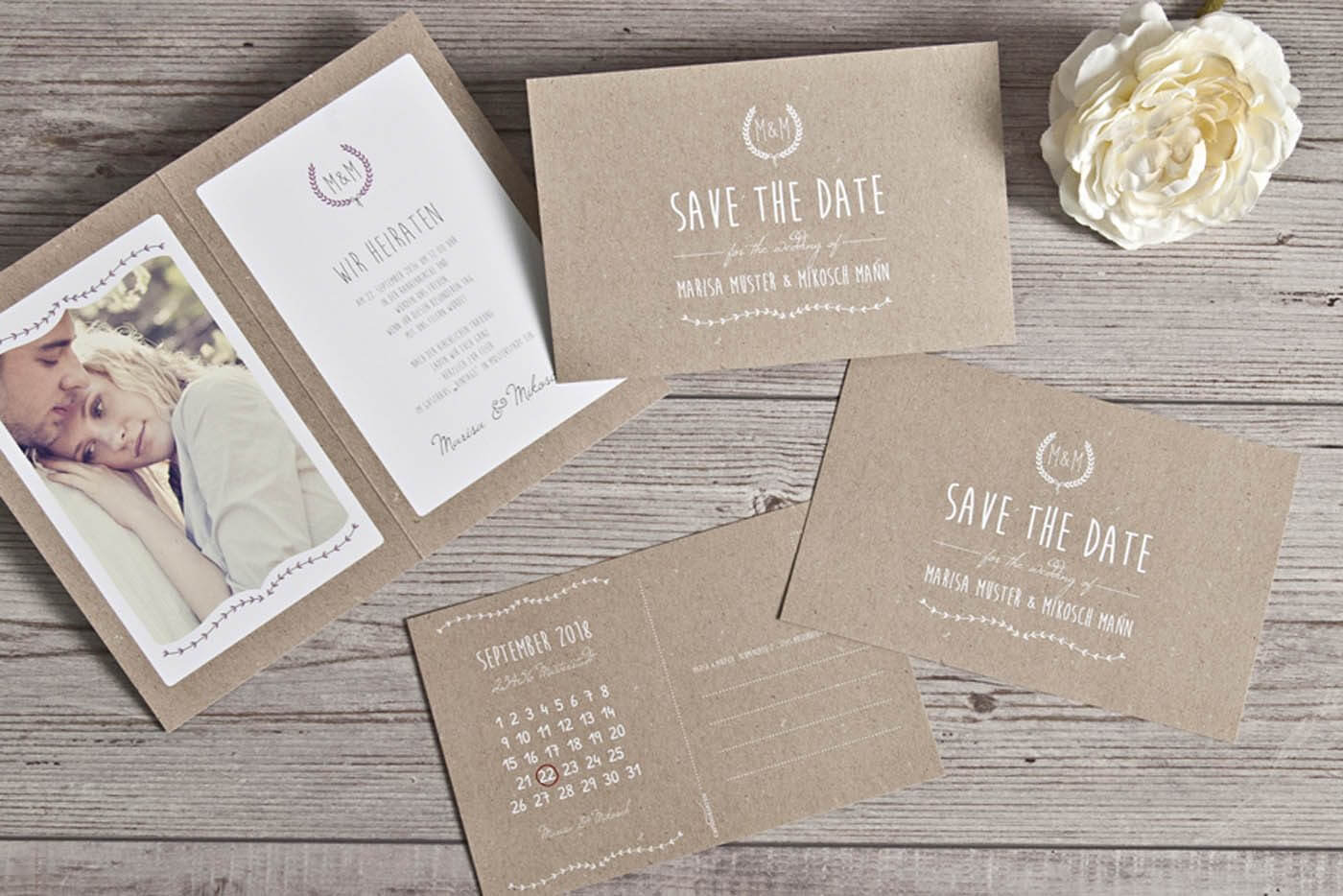 Save the Date Karten: Text