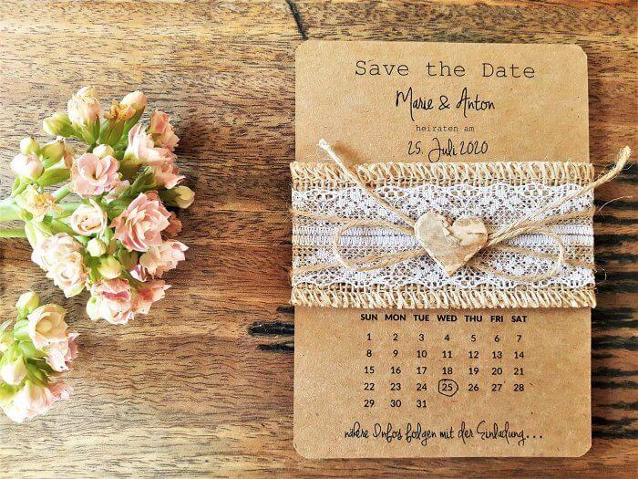 Save-the-Date Karten Vintage