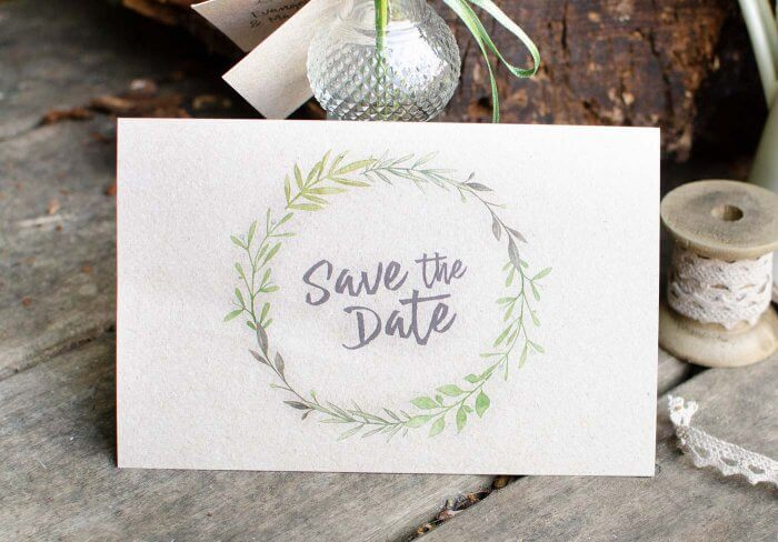 Save the Date Postkarte