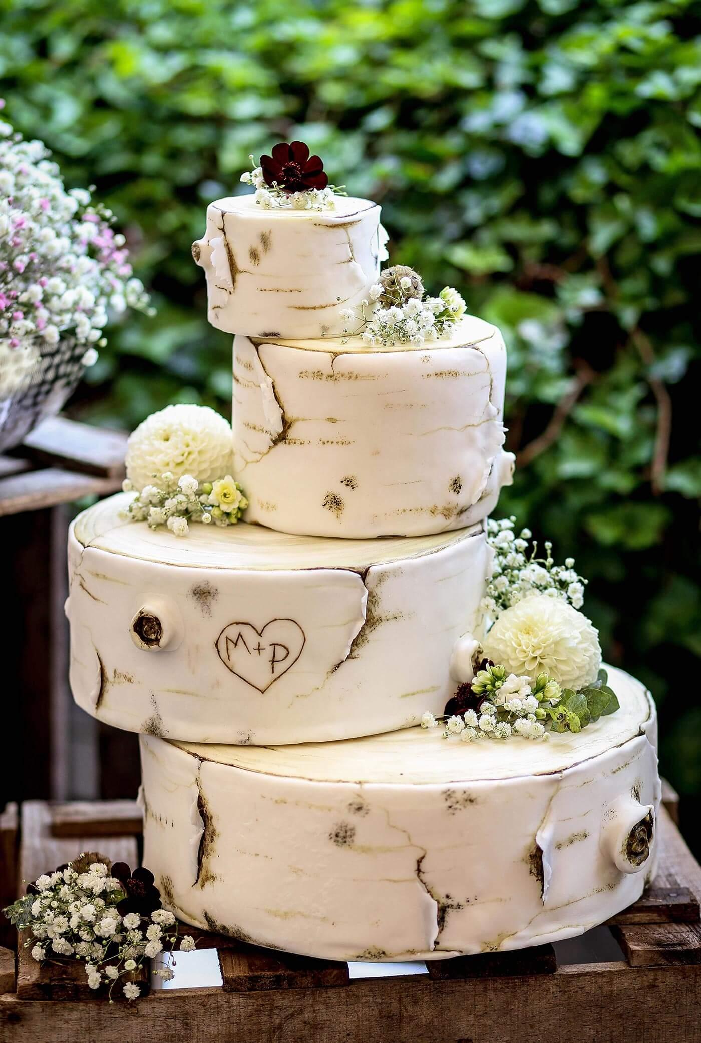 Modern Birch Cake
