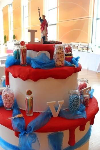 Hochzeitstorte Candybar