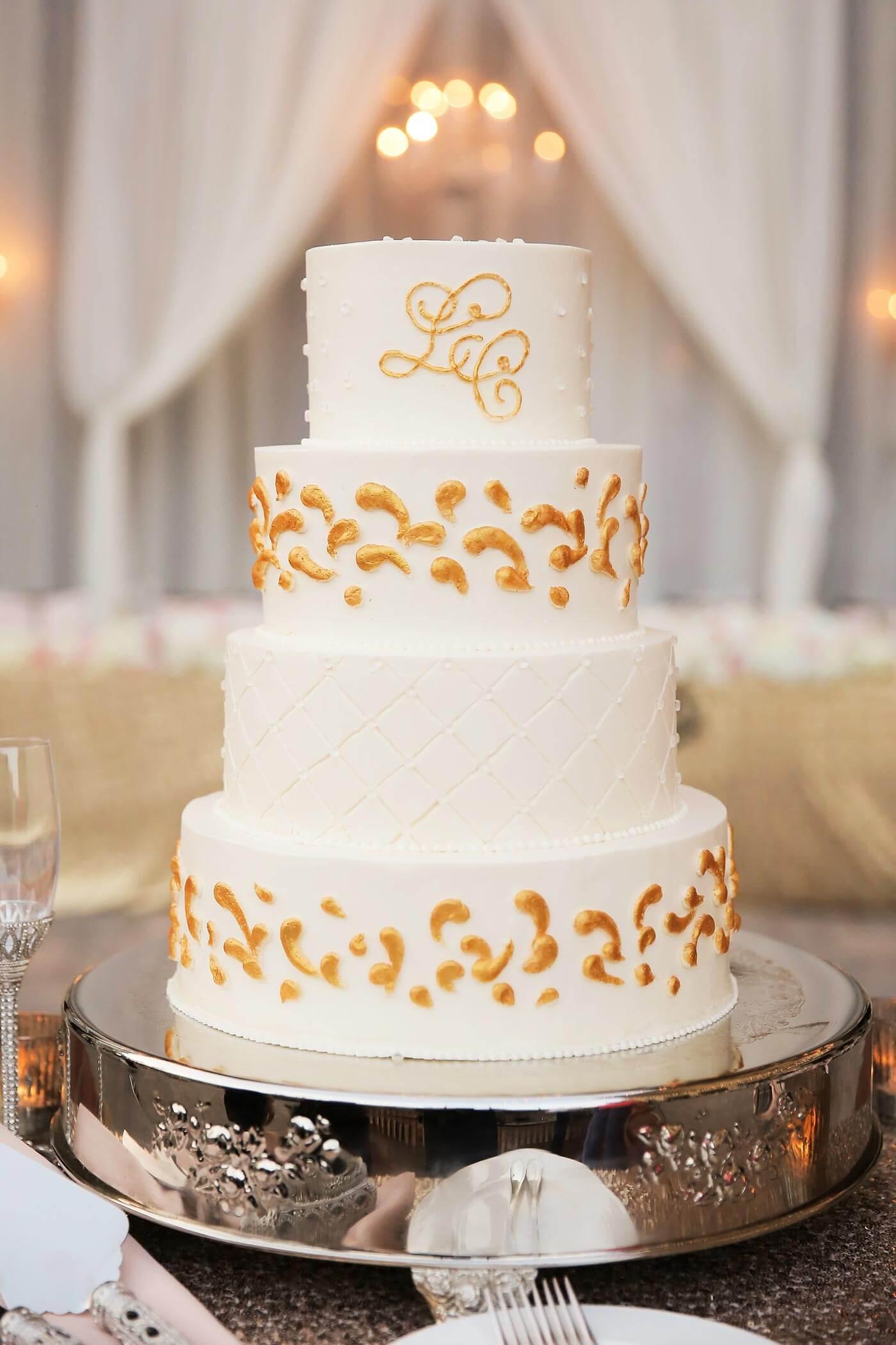 Hochzeitstorte Goldene Hochzeit