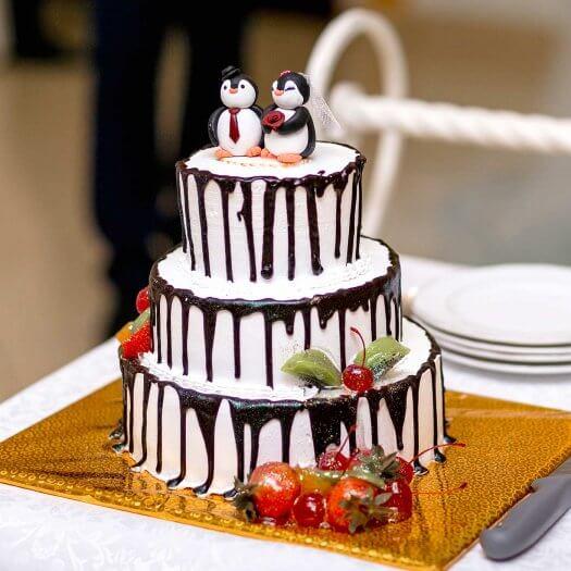 Hochzeitstorte Schokolade