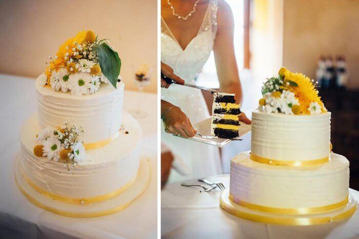 Hochzeitstorte In Gelb Weiss Ganz Viele Beispiele In Der