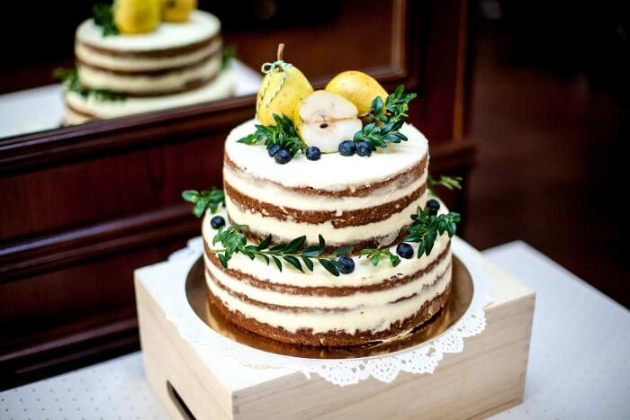 Hochzeitstorte zweistöckig