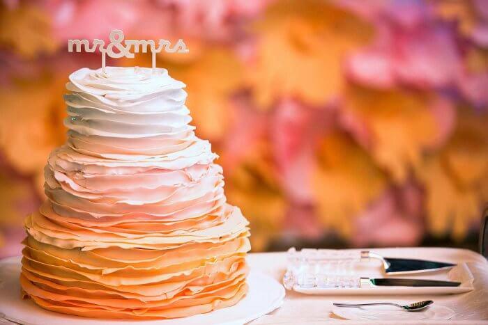 Ombre Hochzeitstorte