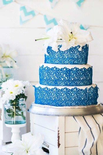Torte mit Spitze