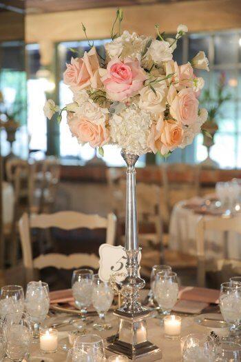 Blumen Tischschmuck Zur Hochzeit Mehr Ideen In Der