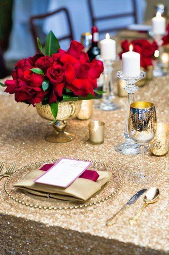Goldene Hochzeit Deko