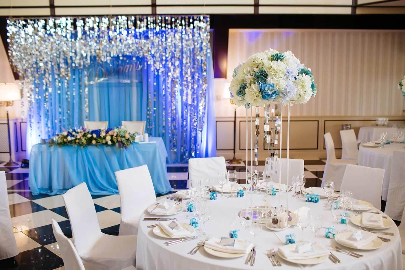 Hochzeitsdeko Blau