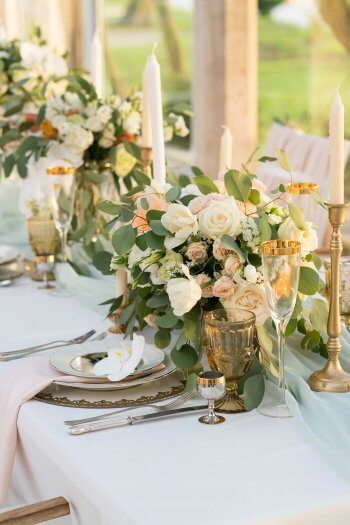 Hochzeitsdeko apricot