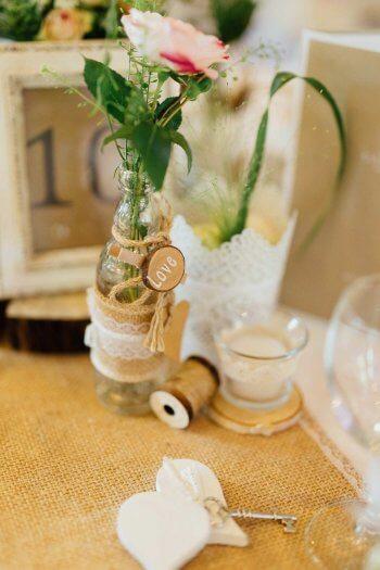 Hochzeitsdekoration basteln