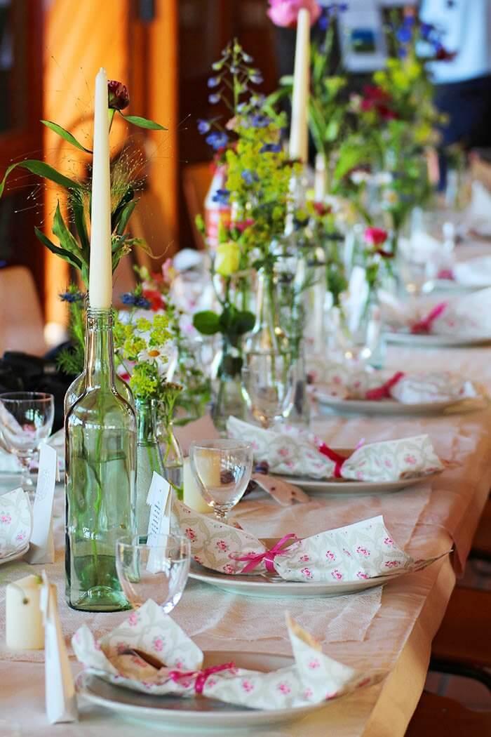 Hochzeitstischdeko selber machen