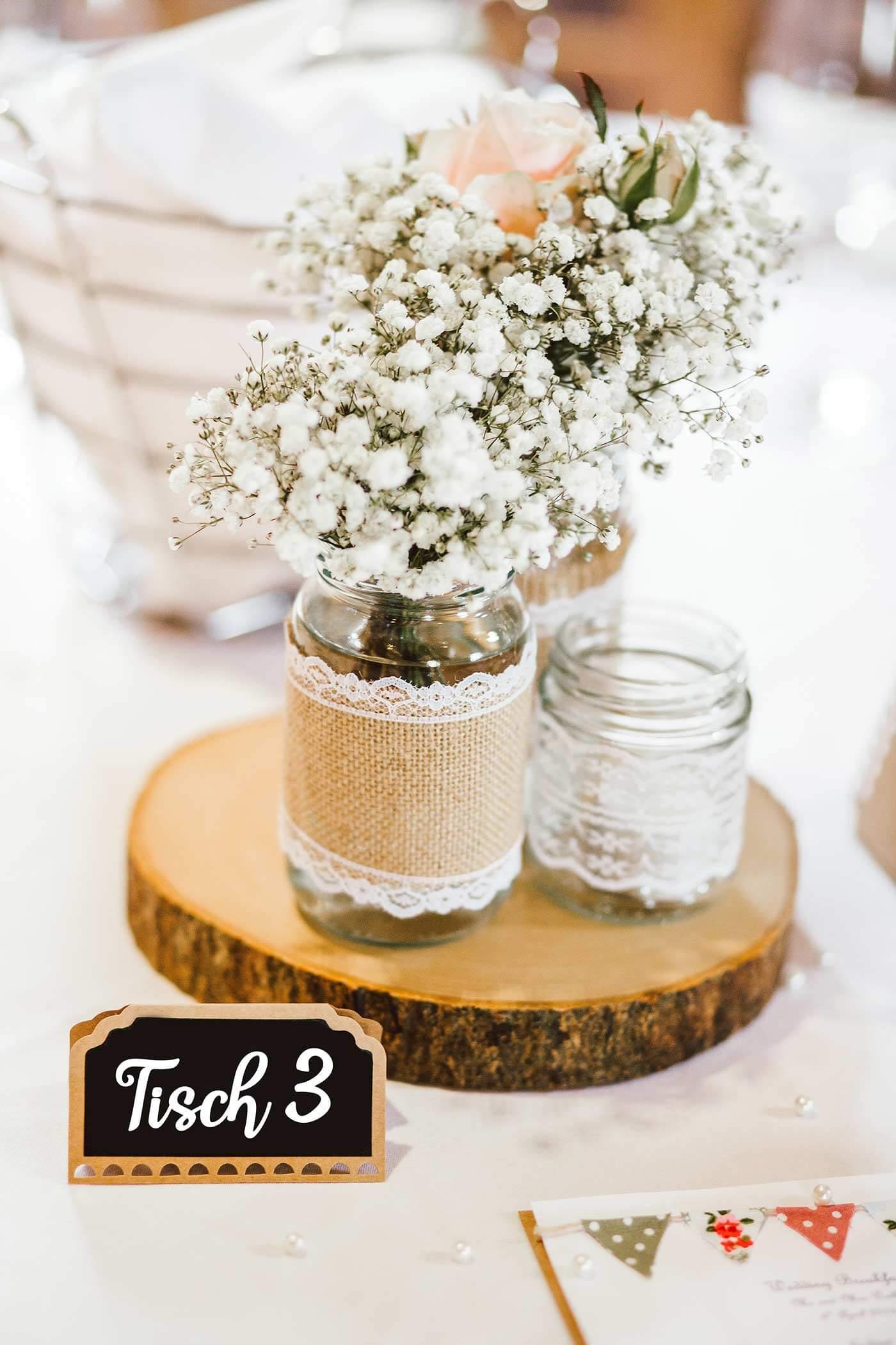 Holzdeko Hochzeit