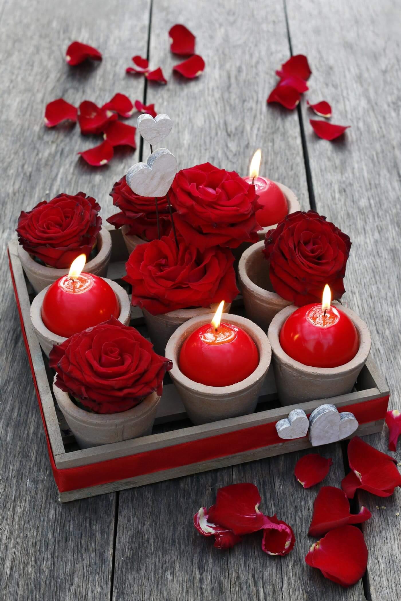 romantische tischdeko mit rosen diy anleitung. Black Bedroom Furniture Sets. Home Design Ideas